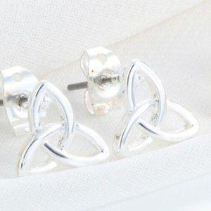 2/$12 Silver Celtic Stud Earrings